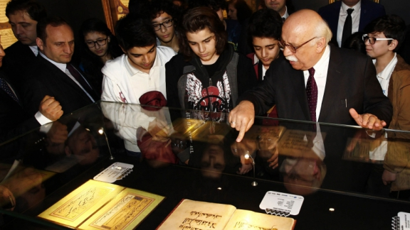 "Minister Avcı tours ""The Great Meeting from Words to Writing"" exhibition"